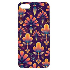 Abstract Background Floral Pattern Apple Iphone 5 Hardshell Case With Stand