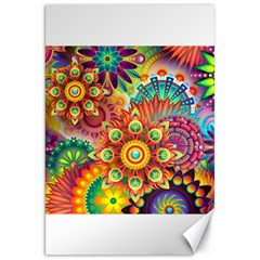 Colorful Abstract Background Colorful Canvas 20  X 30   by Nexatart