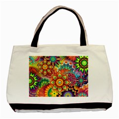 Colorful Abstract Background Colorful Basic Tote Bag (two Sides) by Nexatart