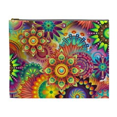 Colorful Abstract Background Colorful Cosmetic Bag (xl)