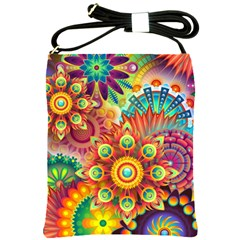 Colorful Abstract Background Colorful Shoulder Sling Bags by Nexatart