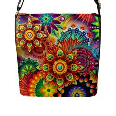 Colorful Abstract Background Colorful Flap Messenger Bag (l)  by Nexatart