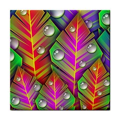 Abstract Background Colorful Leaves Face Towel by Nexatart