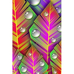 Abstract Background Colorful Leaves 5 5  X 8 5  Notebooks by Nexatart