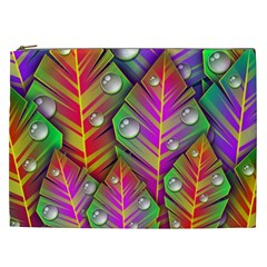 Abstract Background Colorful Leaves Cosmetic Bag (xxl)  by Nexatart