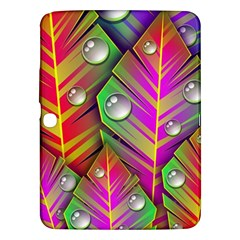 Abstract Background Colorful Leaves Samsung Galaxy Tab 3 (10 1 ) P5200 Hardshell Case
