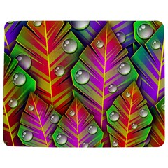 Abstract Background Colorful Leaves Jigsaw Puzzle Photo Stand (rectangular) by Nexatart