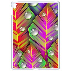 Abstract Background Colorful Leaves Apple Ipad Pro 9 7   White Seamless Case