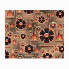 Background Floral Flower Stylised Small Glasses Cloth (2 Side)