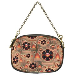 Background Floral Flower Stylised Chain Purses (one Side)