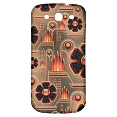 Background Floral Flower Stylised Samsung Galaxy S3 S Iii Classic Hardshell Back Case by Nexatart