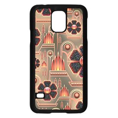 Background Floral Flower Stylised Samsung Galaxy S5 Case (black) by Nexatart
