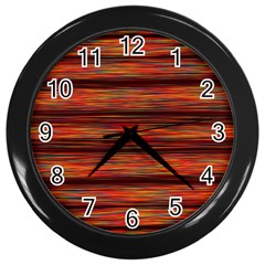 Colorful Abstract Background Strands Wall Clocks (black)