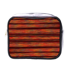 Colorful Abstract Background Strands Mini Toiletries Bags