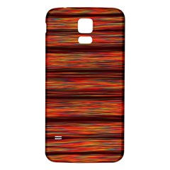 Colorful Abstract Background Strands Samsung Galaxy S5 Back Case (white)
