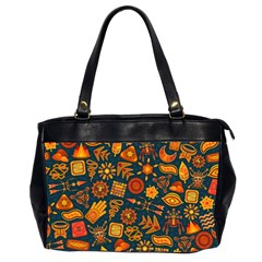 Pattern Background Ethnic Tribal Office Handbags (2 Sides)  by Nexatart
