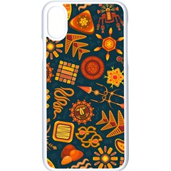 Pattern Background Ethnic Tribal Apple Iphone X Seamless Case (white) by Nexatart