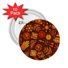 Pattern Background Ethnic Tribal 2 25  Buttons (10 Pack)