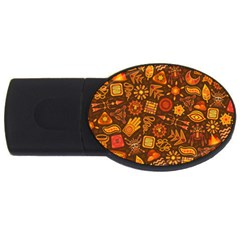 Pattern Background Ethnic Tribal Usb Flash Drive Oval (4 Gb)