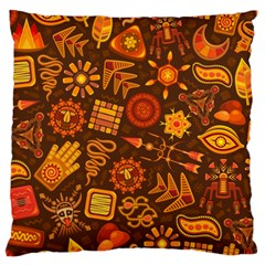 Pattern Background Ethnic Tribal Standard Flano Cushion Case (one Side) by Nexatart