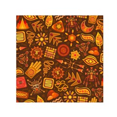 Pattern Background Ethnic Tribal Small Satin Scarf (square)