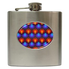 Background Colorful Abstract Hip Flask (6 Oz) by Nexatart