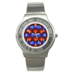 Background Colorful Abstract Stainless Steel Watch by Nexatart