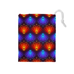 Background Colorful Abstract Drawstring Pouches (medium)  by Nexatart