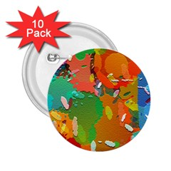 Background Colorful Abstract 2 25  Buttons (10 Pack)
