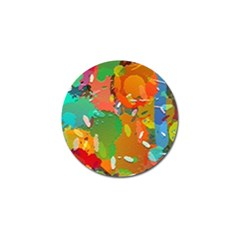 Background Colorful Abstract Golf Ball Marker