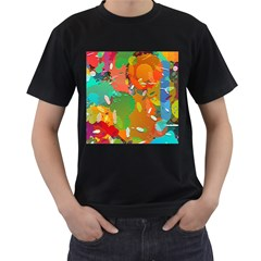 Background Colorful Abstract Men s T Shirt (black) (two Sided) by Nexatart