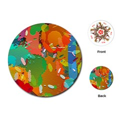 Background Colorful Abstract Playing Cards (round)