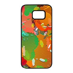 Background Colorful Abstract Samsung Galaxy S7 Edge Black Seamless Case by Nexatart