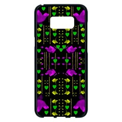 Pure Roses In The Rose Garden Of Love Samsung Galaxy S8 Plus Black Seamless Case