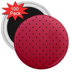 Watermelon Minimal Pattern 3  Magnets (100 Pack) by jumpercat