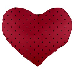 Watermelon Minimal Pattern Large 19  Premium Heart Shape Cushions
