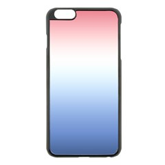 Red And Blue Apple Iphone 6 Plus/6s Plus Black Enamel Case by jumpercat