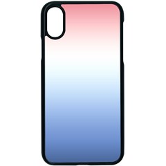 Red And Blue Apple Iphone X Seamless Case (black)