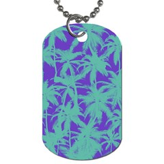 Electric Palm Tree Dog Tag (two Sides)