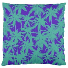 Electric Palm Tree Large Flano Cushion Case (one Side) by jumpercat