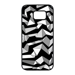 Polynoise Lowpoly Samsung Galaxy S7 Edge Black Seamless Case
