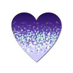 Purple Disintegrate Heart Magnet by jumpercat