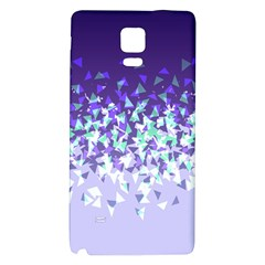 Purple Disintegrate Galaxy Note 4 Back Case