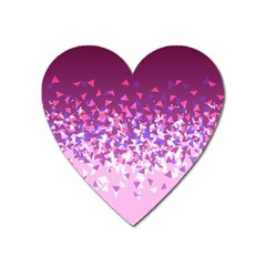 Pink Disintegrate Heart Magnet by jumpercat