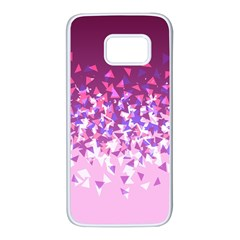 Pink Disintegrate Samsung Galaxy S7 White Seamless Case