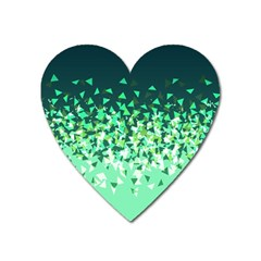 Green Disintegrate Heart Magnet by jumpercat