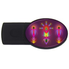 Abstract Bright Colorful Background Usb Flash Drive Oval (4 Gb)