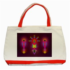 Abstract Bright Colorful Background Classic Tote Bag (red)
