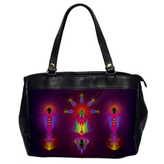 Abstract Bright Colorful Background Office Handbags