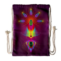 Abstract Bright Colorful Background Drawstring Bag (large) by Nexatart